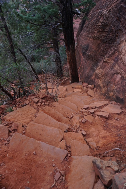 stairs made of rocks