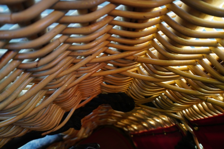 close up of the wicker basket